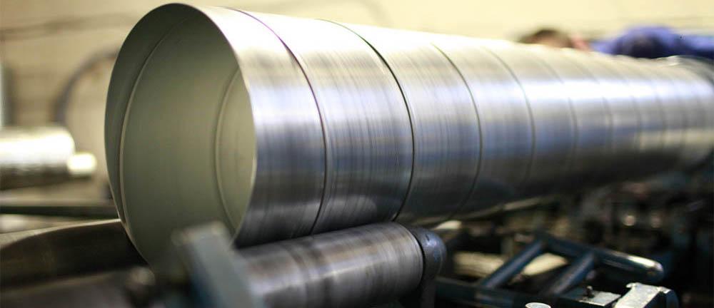 Изготовление спиральных воздуховодов